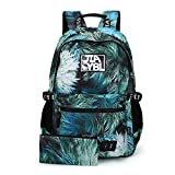 Cheap Mocha weir JIAYBL Laptop Backpack College Shoulders Bags Children School Book Bags Girls ladies Women Travel Canvas Backpack (green)