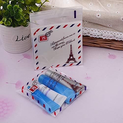 Ochoos Kawaii Korean Cute Cookie Packaging Self-Adhesive Gift Clear Transparent Plastic Bags for Biscuit Snack Baking Package 100x100mm