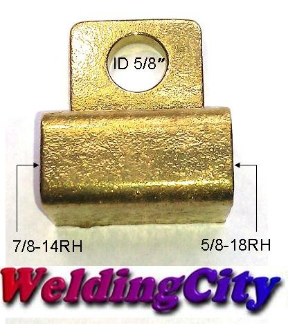 (WeldingCity Weldcraft Type Power Cable Adapter 45V62 for TIG Welding Air-Cooled Torch 26 in Lincoln Miller ESAB Weldcraft CK Everlast AHP )