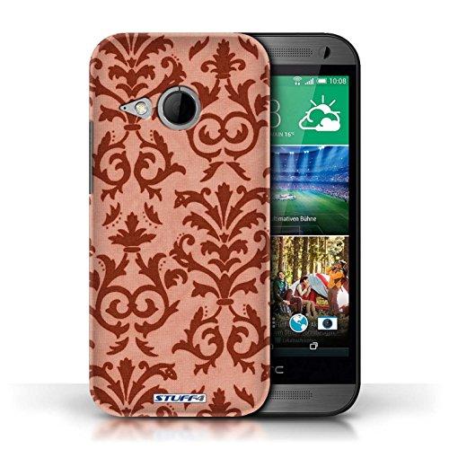 Etui pour HTC One/1 Mini 2 / Rouge conception / Collection de Motif de défilement