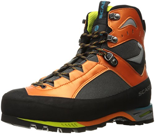 (SCARPA Men's CHARMOZ Mountaineering Boot, Shark/Orange, 44.5 EU/11 M US)