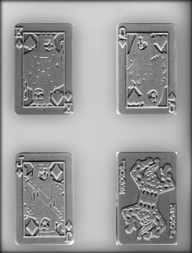 CK Products 3-1/2-Inch Face Cards Chocolate Mold