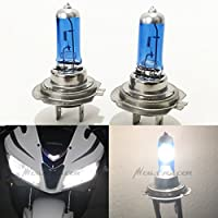 H7 Super White 5000K Xenon Halogen Headlight Lamp Light Bulb (High or Low Beam) Hi Lo Stock OEM Replace Motorcycle Bike