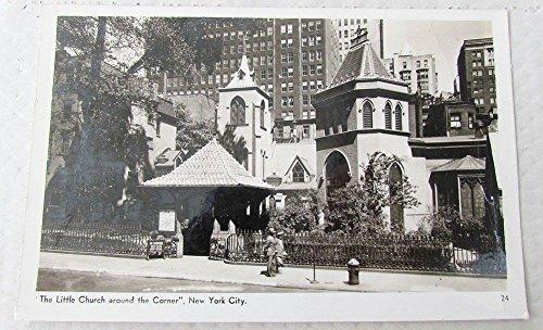 LITTLE CHURCH AROUND THE CORNER NEW YORK 1943 VINTAGE REAL PHOTO POSTCARD ()