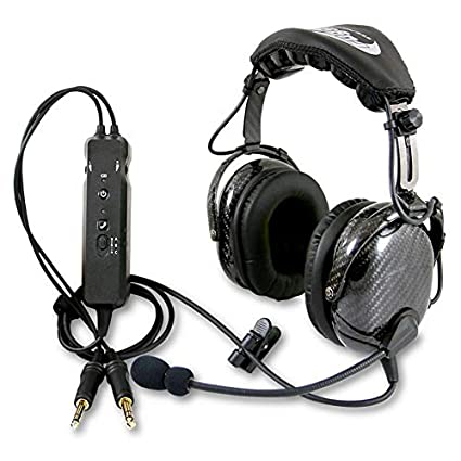 78e4a78d959 Rugged Air RA980 Carbon Fiber General Aviation Pilot Headset with Active  Noise Reduction Featuring Bluetooth Connectivity