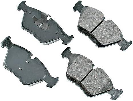 FRONT+REAR Akebono Euro Ceramic Brake Pads And Sensors USA MADE AK96766