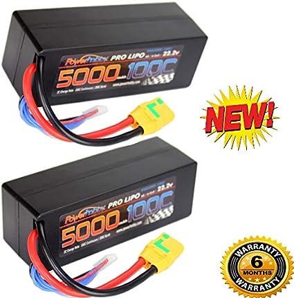 Powerhobby 6s 22.2v 5000mah 100c Lipo Battery w Deans Plug Hard Case 6-Cell