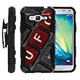 TurtleArmor | Compatible for Samsung Galaxy J3 Case (2016) | J310 [Hyper Shock] Exclusive Combo Hybrid Armor Holster Clip Case Hard Shell Stand Rubber Alien and UFO Series - UFO Keyboard
