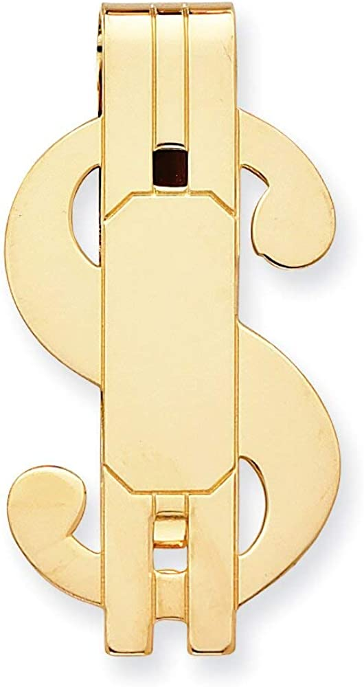 Gold Plated Dollar Sign Money Clip