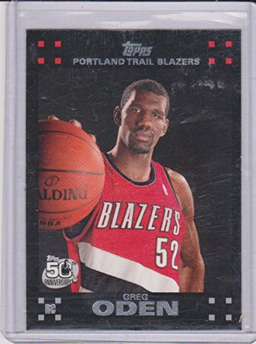 2007-08 Topps Greg Oden Blazers Rookie Basketball Card #111 ()
