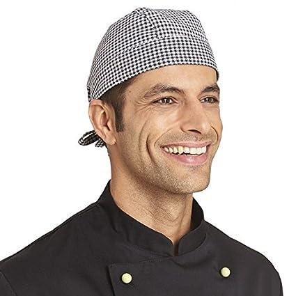 BICAP Bandana per panettieri Pepita Nero Bianco misura regolabile – Cappello  da cuoco bäckercap 100 c3aa11dec8e5