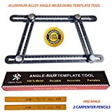 Aluminum Alloy Metal Angle Template Tool-Measures All Angles and Forms-Multi-Angle Metal Template Tool for DIY, Handymen, Builders, Carpenters, Craftsmen, Contractors, Roofers &Tilers