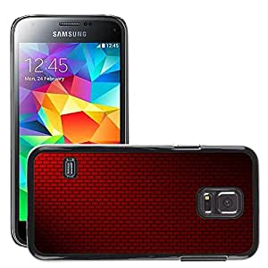 Hot Style Cell Phone PC Hard Case Cover // M00150366 Background Brick Wall Red Bricks // Samsung Galaxy S5 MINI SM-G800