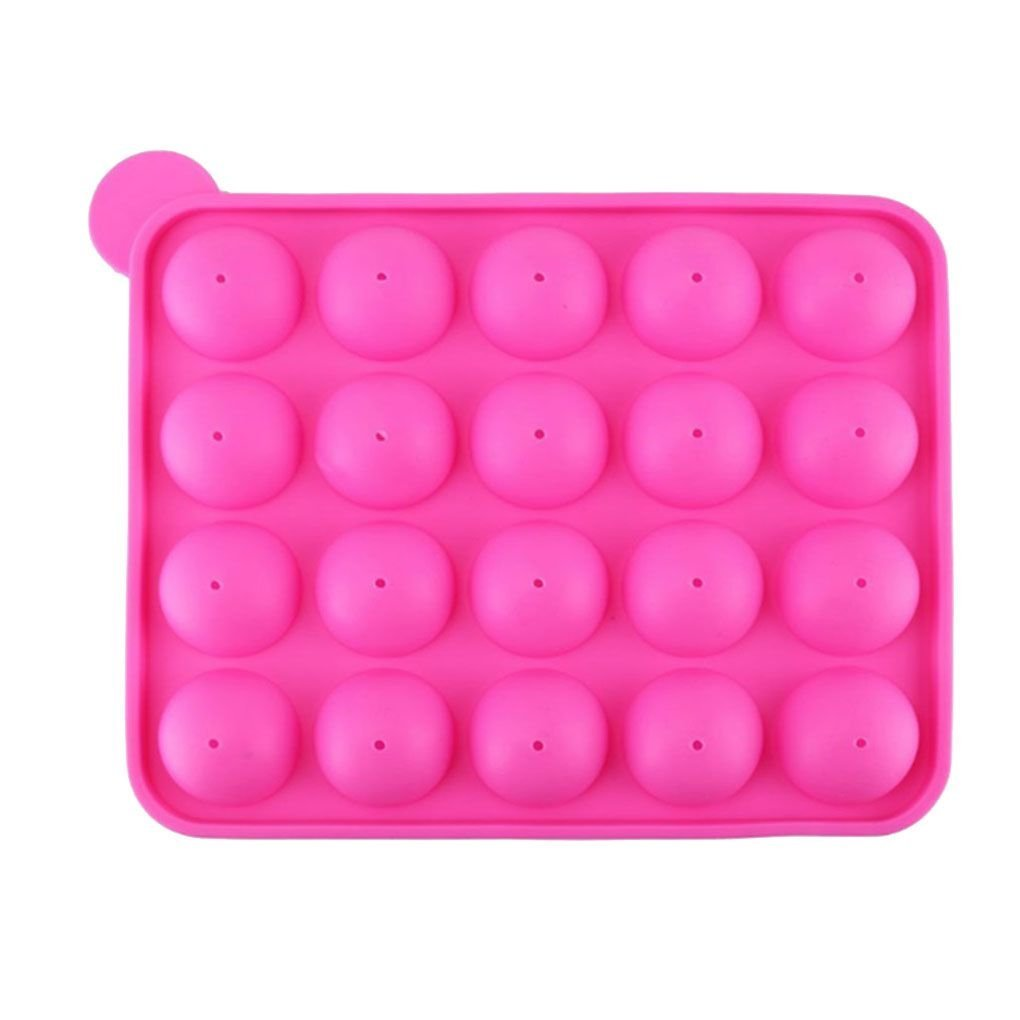 Chilie 20 Holes with Rod Silicone Lollipop Chocolates Mould DIY Cake Biscuits Baking Mould Kitchen Tools