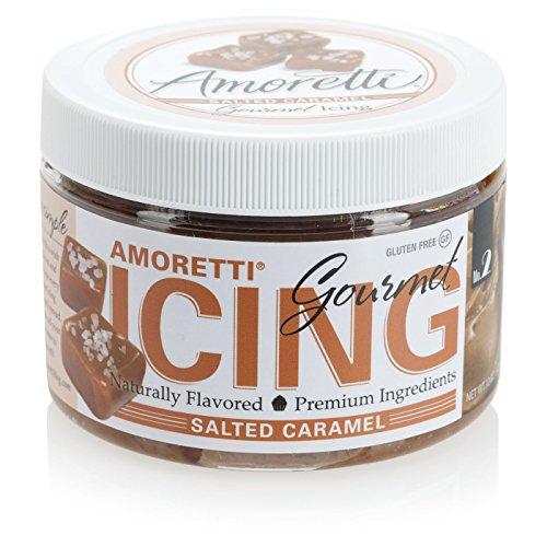 Amoretti Gourmet Icing, Salted Caramel, 12 Ounce