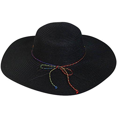 Chapeau-tendance - Capeline noire orné de pierres - - Femme