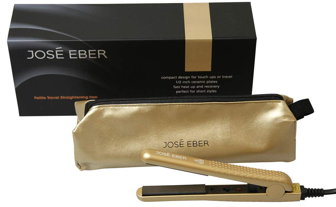 Jose Eber Mini Petite Hair Straightener Gold