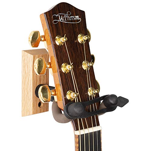 String Swing Guitar Wall Mount Hanger with Keeper Strap- Electric Acoustic and Bass Guitars CC01K-O ()