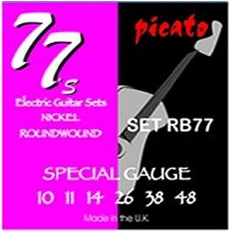 Picato 90772/Nickel Round Wound Cordes pour guitare /électrique 9 42 Lot de 6/pi/èces