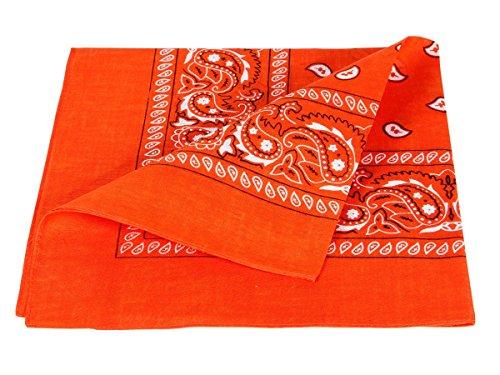 X Bandana arancione paisley 100 Cm circa accessorio Sciarpa 57 54 cotone 1qUwprqI