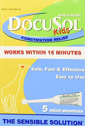 DocuSol Kids Constipation Relief, Mini Enema 5 ea by Docusol