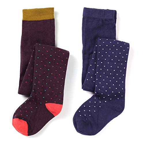 - Kids Girls Cotton Rich Fun Fashion Tight lovely Dogs & Spots, Fox & Owl Pattern 2 Pair Pack (All small spots, 3-4 years)