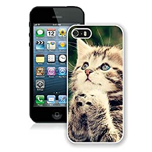 Fashion Style Iphone 5S Protective Cover Case Christmas Cat iPhone 5 5S TPU Case 29 White