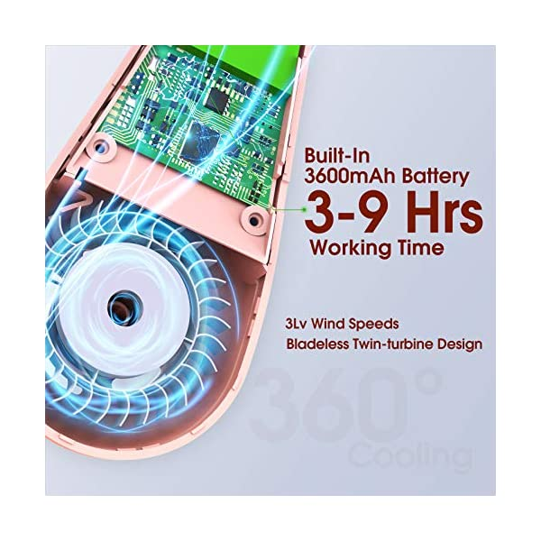51J1y9HS6JL Tesoky Tragbarer Halsventilator ,Mini Ventilator 360° Einstellbarer keine Ventilatorrad Fan,Neckenventilator 3 Stufen…