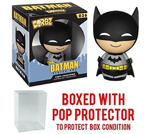Funko Dorbz: Batman Series One - Black Suit Batman Vinyl Figure (Bundled with Pop BOX PROTECTOR CASE)