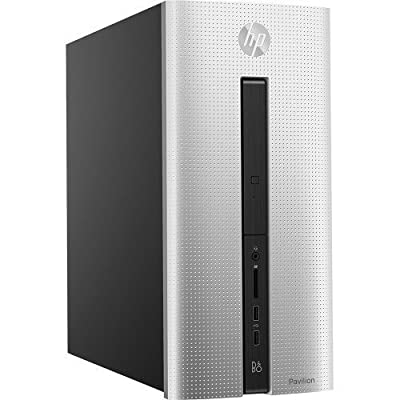 2016 HP Pavilion 550 Desktop, AMD Quad-Core A8 Accelerated Processor with AMD Radeon R5 graphics, 8GB Memory, 1TB Hard Drive, DVD RW, WiFi, Bluetooth, Windows 10 Professional (Certified Refurbished)