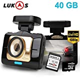 Lukas LK-9390 AD ADAS Dash Camera with GPS & 40GB Memory + SD Card Reader + Cigarette Lighter Adapter