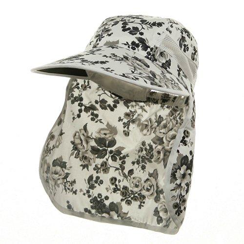 e4Hats.com Ladies Wide Brim Detachable Flap Cap - Black OSFM