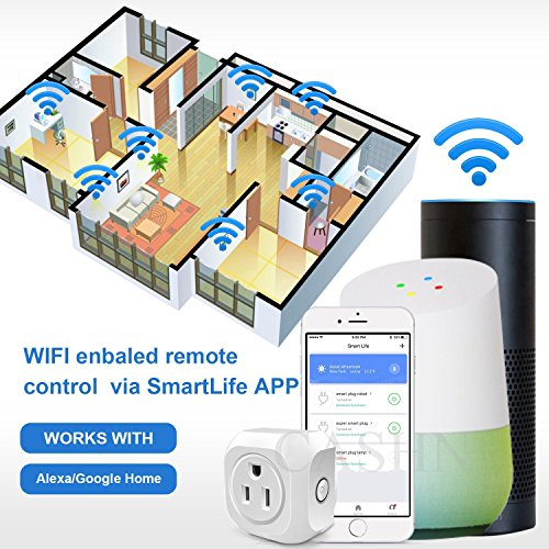 ACASHNA HS108 Smart Plug, No Hub Required, Wi-Fi, Control your Devices from Anywhere, Works Amazon Alexa Echo and Google Assistant (2Pack) by ACASHNA (Image #4)