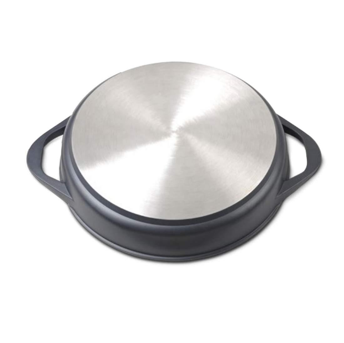 Libre de BPA Tapa de Cristal Aluminio Forjado Cacerola Antiadherente WeCook 10101 Cazuela de Cocina Inducci/ón Profesional 24 cm