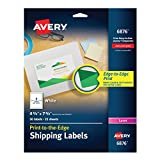 Avery Color Printing 4 3/4 x 7 3/4 Inch White Labels 50 Count (6876)