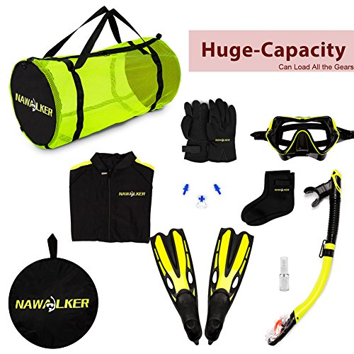 nawalker dive mesh duffle bag for scuba gear travel bag for diving snorkeling swimming beach