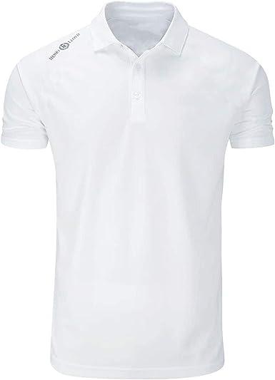 Henri Lloyd Camisa Polo Dri Cool Brillante en Blanco Brillante - Cuenta con protección UV SPF50 Tela de Dry rápido - SIN Hierro