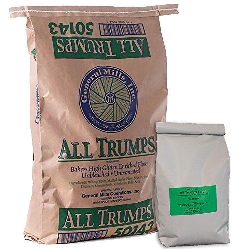 (General Mills All Trumps High Gluten Flour - Unbleached, Unbromated - 7 Pound Repack)