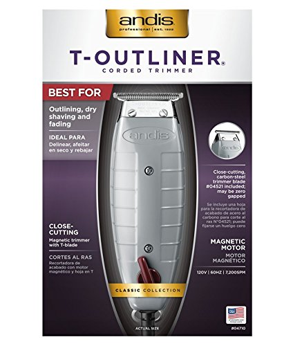 Andis T-Outliner Trimmer with T-Blade, Gray by Andis