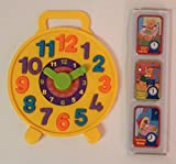 Teach Time Puzzle Clock with 8 Tell the Time Cards, Educational Toy for Kids