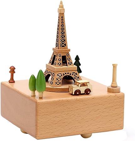 Caja de musica Torre de París Madera Maciza Regalos de cumpleaños ...