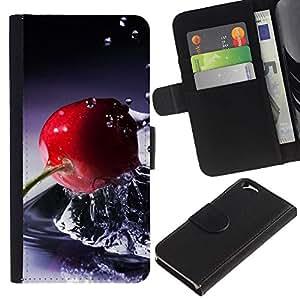 Caso Billetera de Cuero Titular de la tarjeta y la tarjeta de crédito de la bolsa Slot Carcasa Funda de Protección para Apple Iphone 6 4.7 Fruit Basket / JUSTGO PHONE PROTECTOR