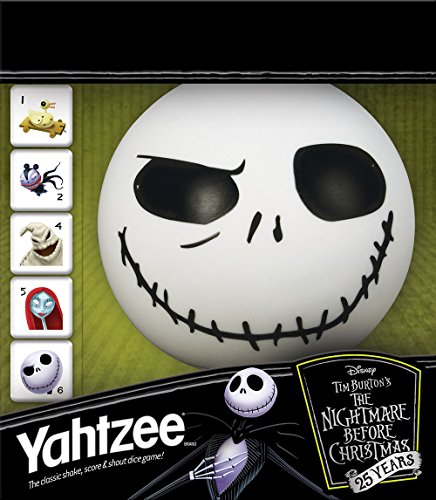 USAopoly Yahtzee The Nightmare Before Christmas 25 Year Anniversary | Yahtzee Dice Game | Jack Skellington Merchandise -