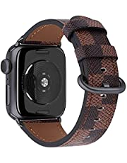 JSGJMY Leather Band Compatible with iWatch 38mm 40mm 42mm 44mm Women Men Top Grain Strap for iWatch SE Series 6 5 4 3 2 1