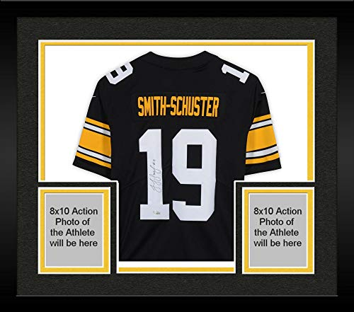 Limited Alternate Jersey - Framed JuJu Smith-Schuster Pittsburgh Steelers Autographed Nike Black Limited Alternate Jersey - Fanatics Authentic Certified