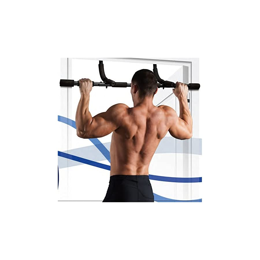 HemingWeigh Heavy Duty Complete Upper Body Workout Bar 3 In 1 Pull Up/Push Up/Sit Up Bar (Latest Model Advanced Door Frame Protection)