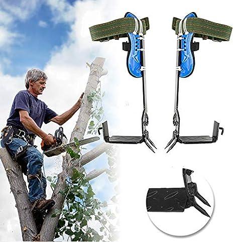 cintur/ón de seguridad ajustable, cuerda para colgar Juego de pinchos para escalada de /árboles Cabina Home