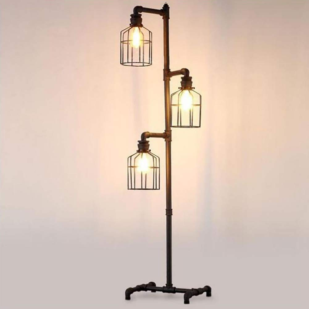 huge selection of cc449 3765a FGLDD Retro Industrial Feng Shui Pipe Floor Lamp, American ...