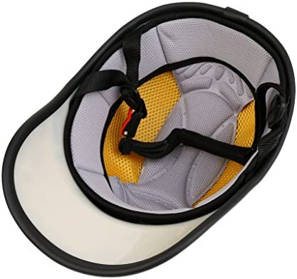 Casque de moto//v/élo de style casquette de baseball MagiDeal S/écurit/é anti-UV Avec visi/ère ajustable