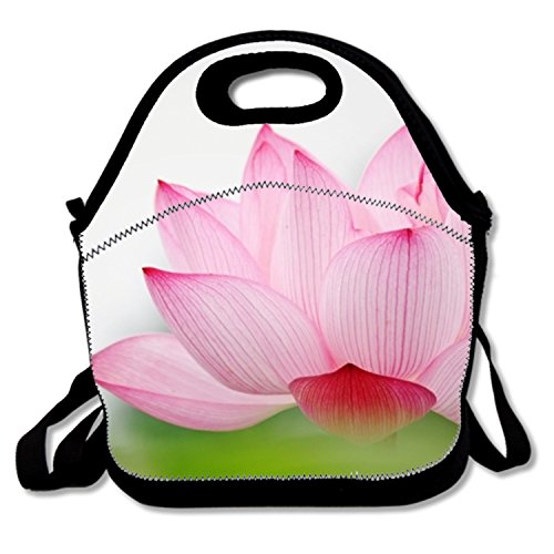 for Nurses Teens Polyester Lunch Box Tote for Boys with Lotus Flower Wallpaper ()